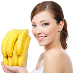 Bananas, blood pressure, bones, Vitamin C, Vitamin B-6, Bowel Health, Stress Reduction, Brain Food, Iron Rich Food, Breakfast